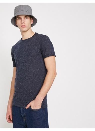 Koton Koton Bisiklet Yaka Lacivert T-Shirt Lacivert